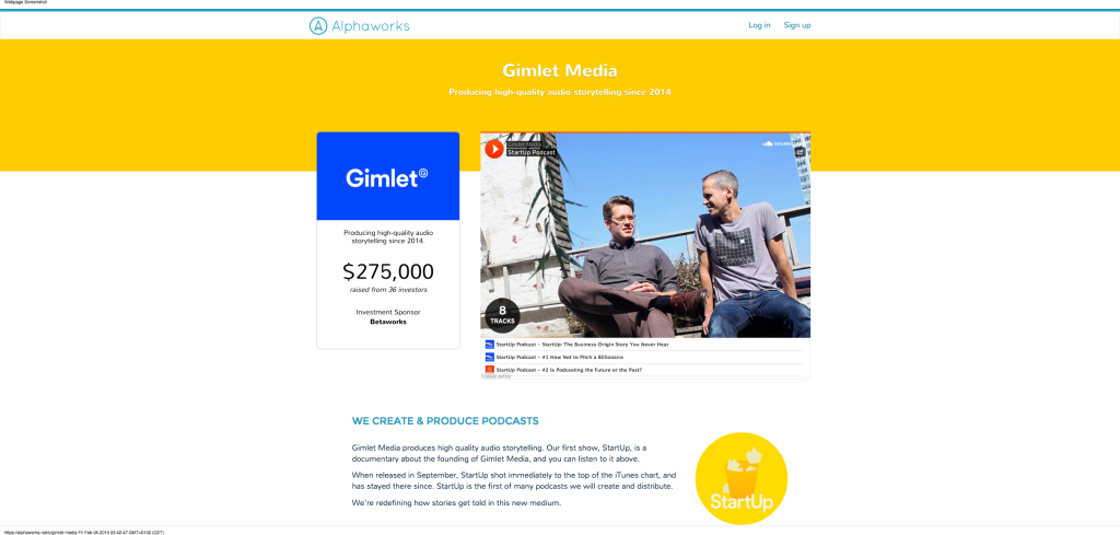 Gimlet Media - Alphaworks   Empowering Communities to Become Owners