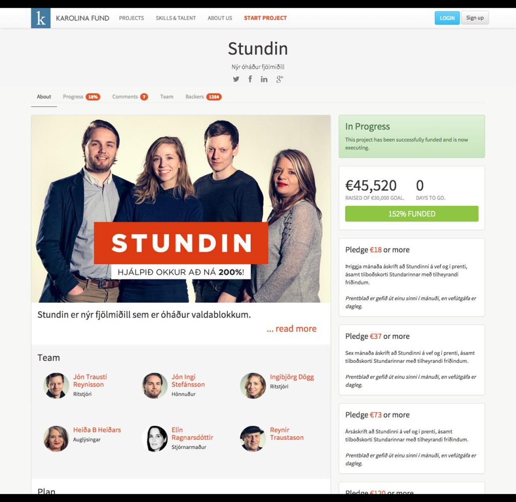 Stundin - Karolina Fund